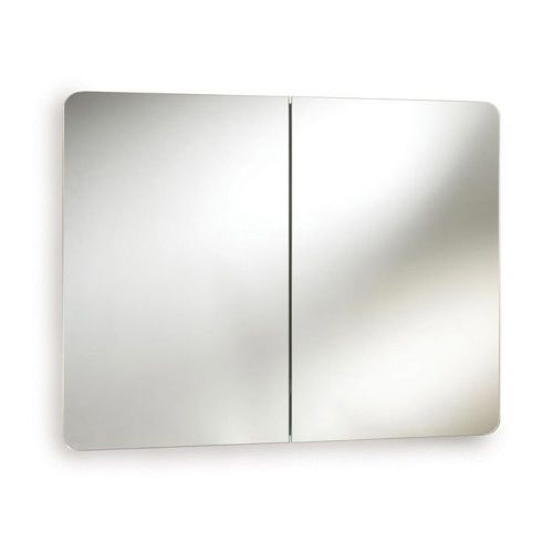 Mimic Stainless Steel Double Mirror Cabinet 800mm x 500mm